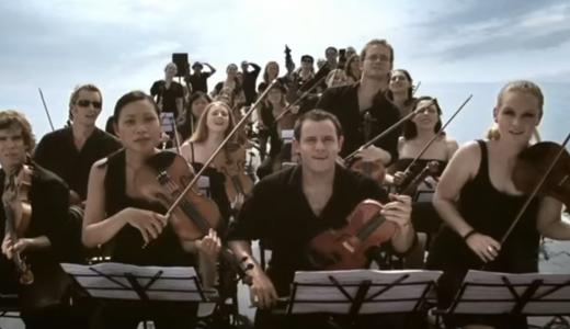 【息を呑む映像】オーケストラはクジラを呼び出す事が出来るのか