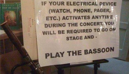 【効果的かも!?】もしも演奏中に携帯が鳴ってしまったら・・・