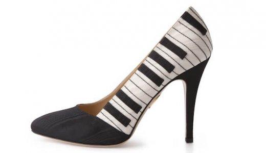女性音楽家におススメ!楽器デザインの靴が予想以上に素敵