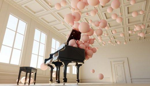 風船ピアノアート「不思議な感覚で癒される」と話題に