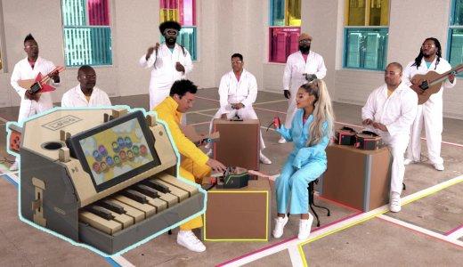 【動画】アリアナ・グランデ「ニンテンドーラボ」で作った楽器だけで楽曲を披露!